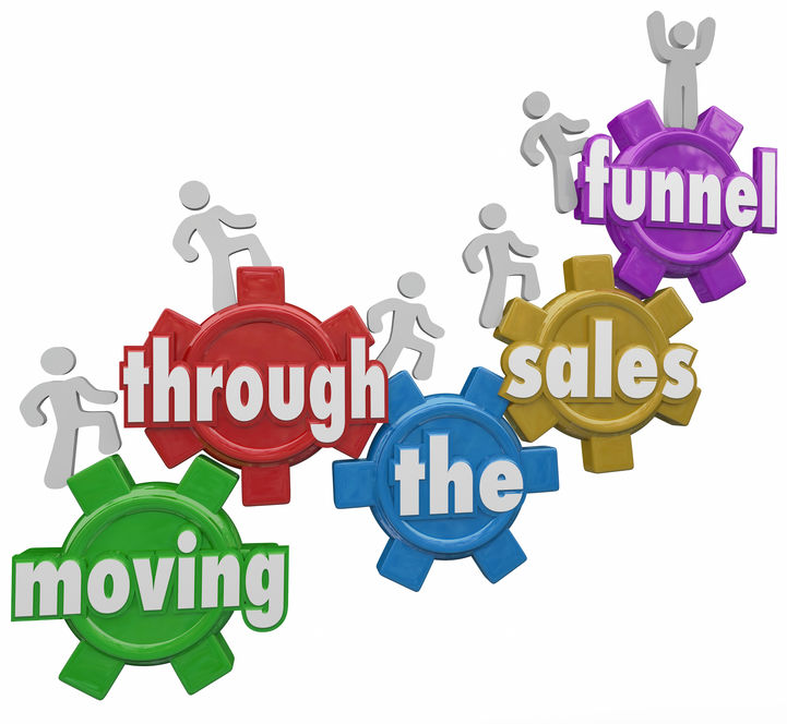 Moving through the sales funnel